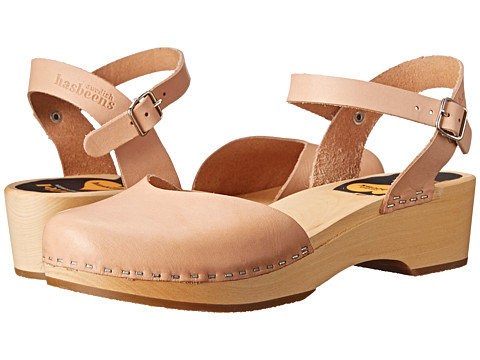 Swedish Hasbeens - Covered Low Wedge (Nature) Women