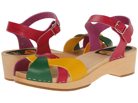 Swedish Hasbeens - Tutti Frutti Debutant (Strong Color Combo) Women's 1-2 inch heel Shoes