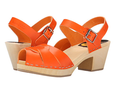 Swedish Hasbeens - Peep Toe High (Orange) Women