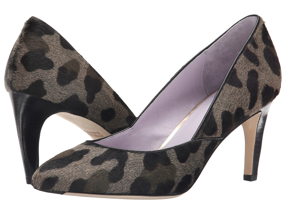 Johnston & Murphy - Isabel Pump (Gray/Black Leopard Haircalf) High Heels