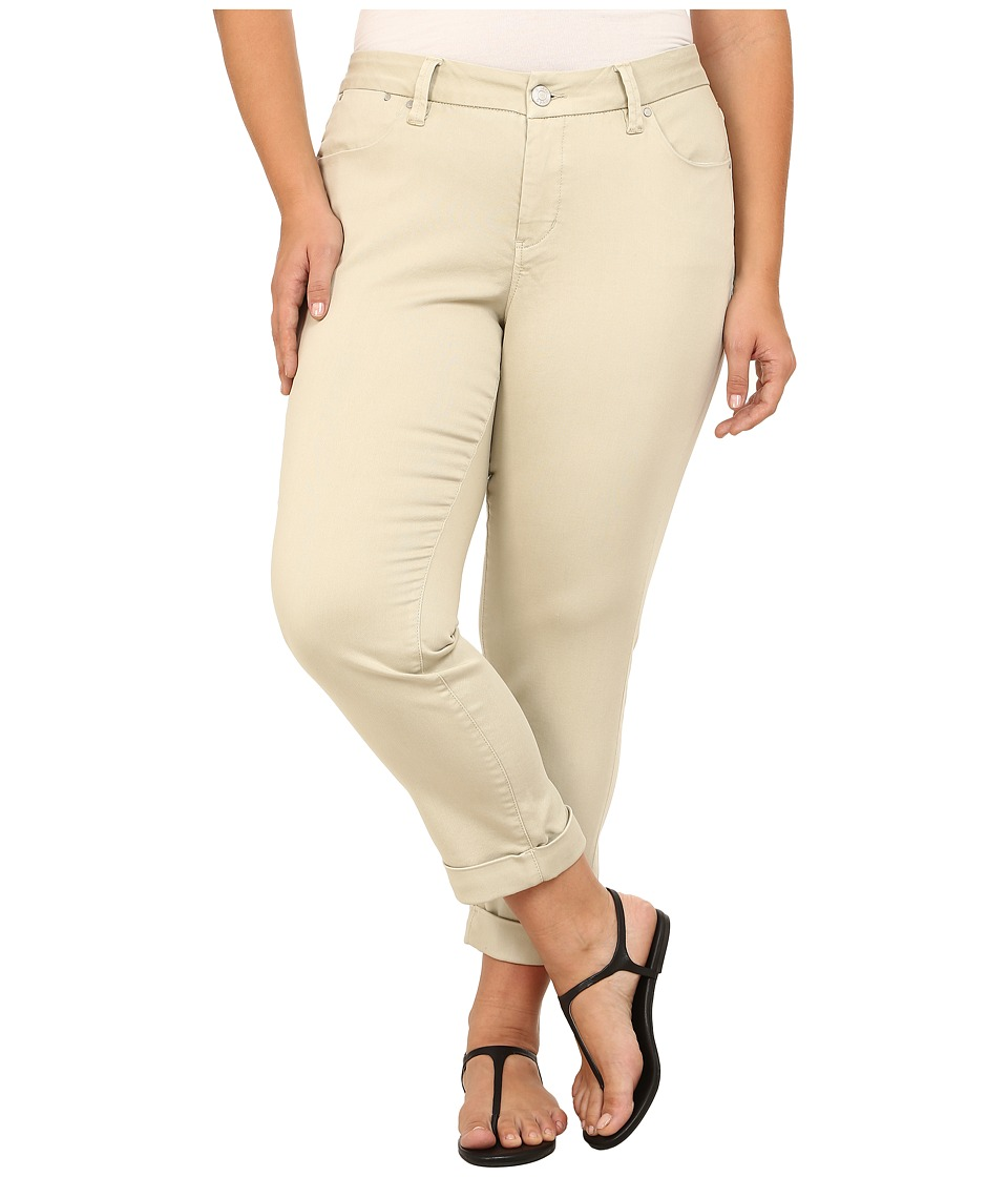Jag Jeans Plus Size - Plus Size Erin Cuffed Ankle in Khaki (Khaki) Women's Jeans plus size,  plus size fashion plus size appare