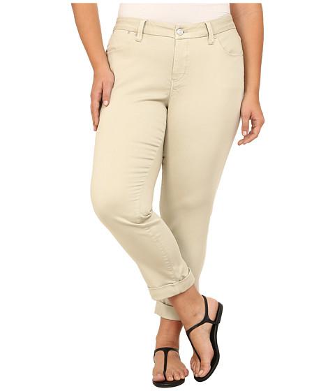Jag Jeans Plus Size - Plus Size Erin Cuffed Ankle in Khaki (Khaki) Women