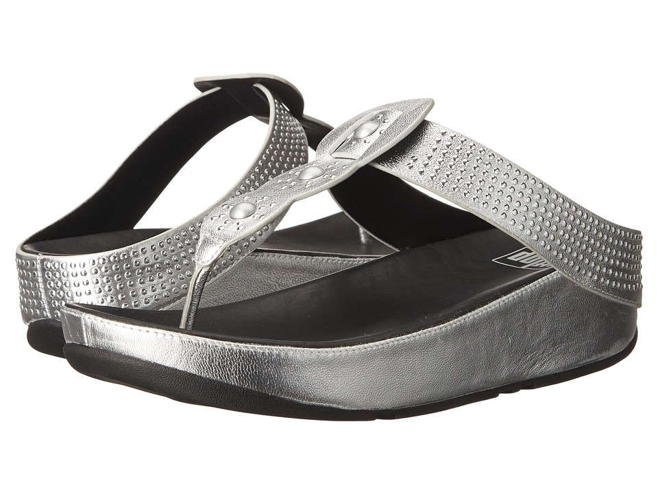 FitFlop - Bohotm (Silver) Women's Sandals plus size,  plus size fashion plus size appare