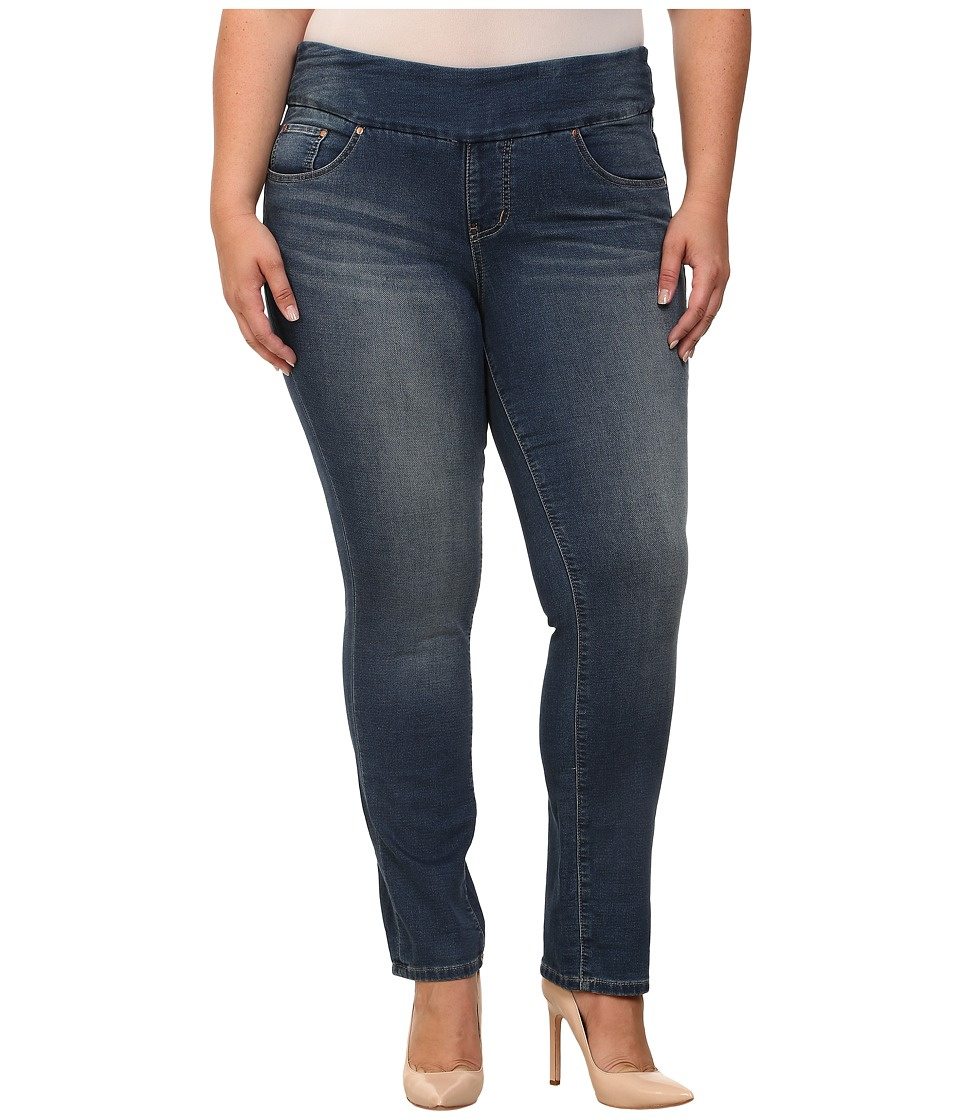 Jag Jeans Plus Size - Plus Size Nora Skinny Knit Denim (Forever Blue) Women's Jeans plus size,  plus size fashion plus size appare