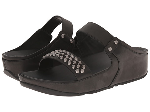 FitFlop - Amsterdam Studded Slide (Black) Women's Sandals