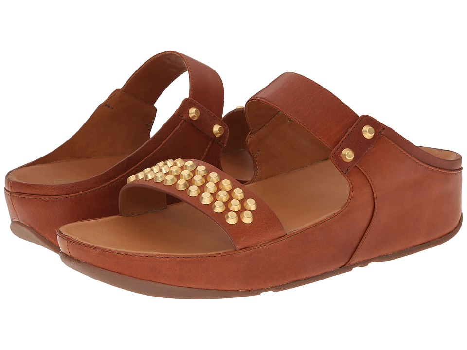 FitFlop - Amsterdam Studded Slide (Dark Tan) Women