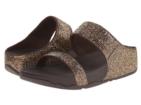 FitFlop - Lulu Superglitz Slide (Copper) Women's Slide Shoes