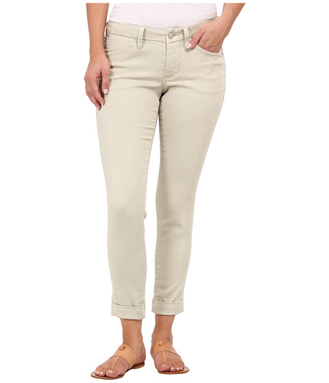 Jag Jeans Petite - Petite Erin Cuffed Ankle Knit Denim in Khaki (Khaki) Women