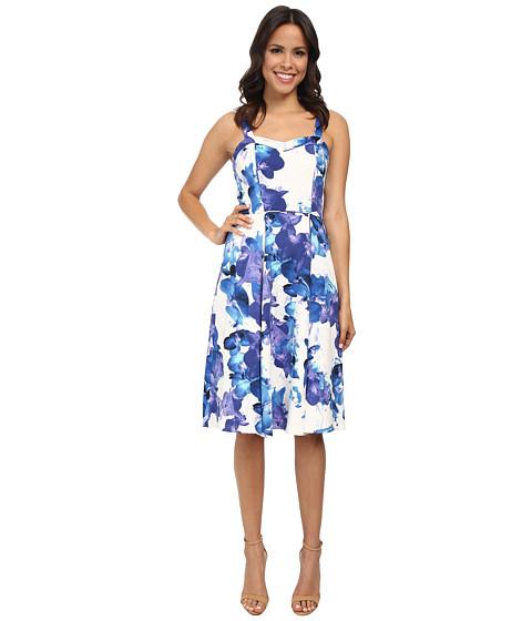 Adrianna Papell - Midi Length Strap Dress (Ivory Multi) Women