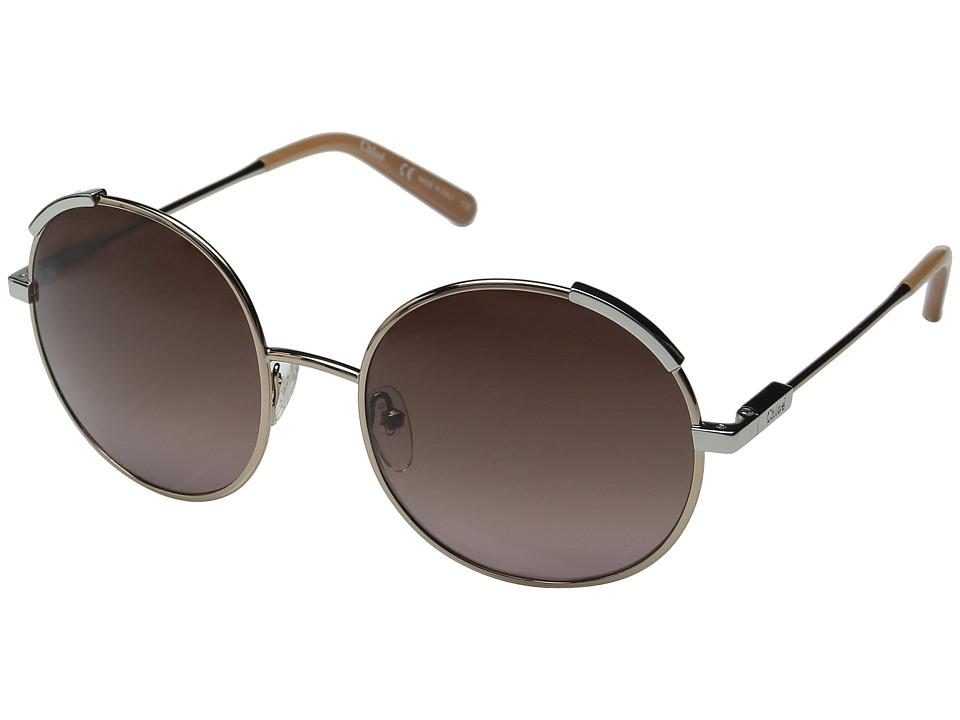 Chloe - Nerine (Rose Gold/Light Brown) Fashion Sunglasses