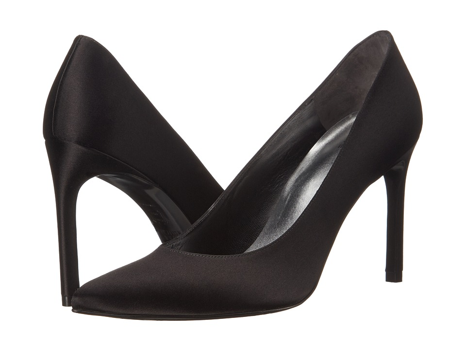 Stuart Weitzman Bridal & Evening Collection Heist (Black Satin) High Heels
