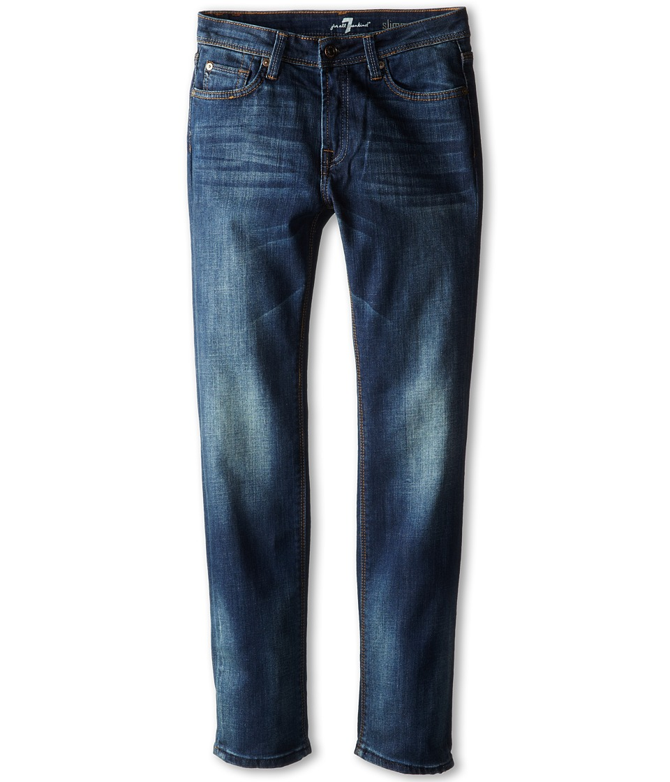 7 For All Mankind Kids - Slim Straight Jeans in Heritage Blue (Big Kids) (Heritage Blue) Boy's Jeans
