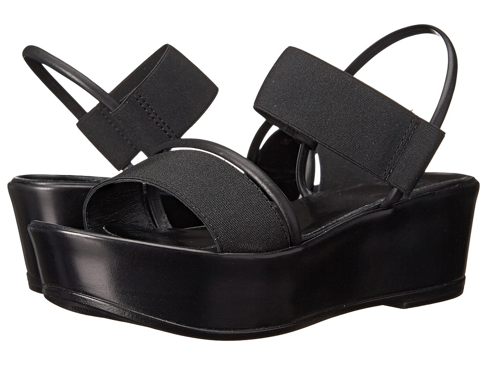 Summit White Mountain - Calidaii (Black Leather) Women's Wedge Shoes