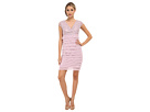 Lace Surplice Top Tiered Sheath Dress