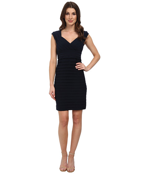 Adrianna Papell - Open Back Crossing Bands Dress (Eclipse) Women