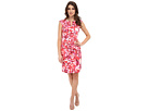 Watercolor Floral Pleated Sheath