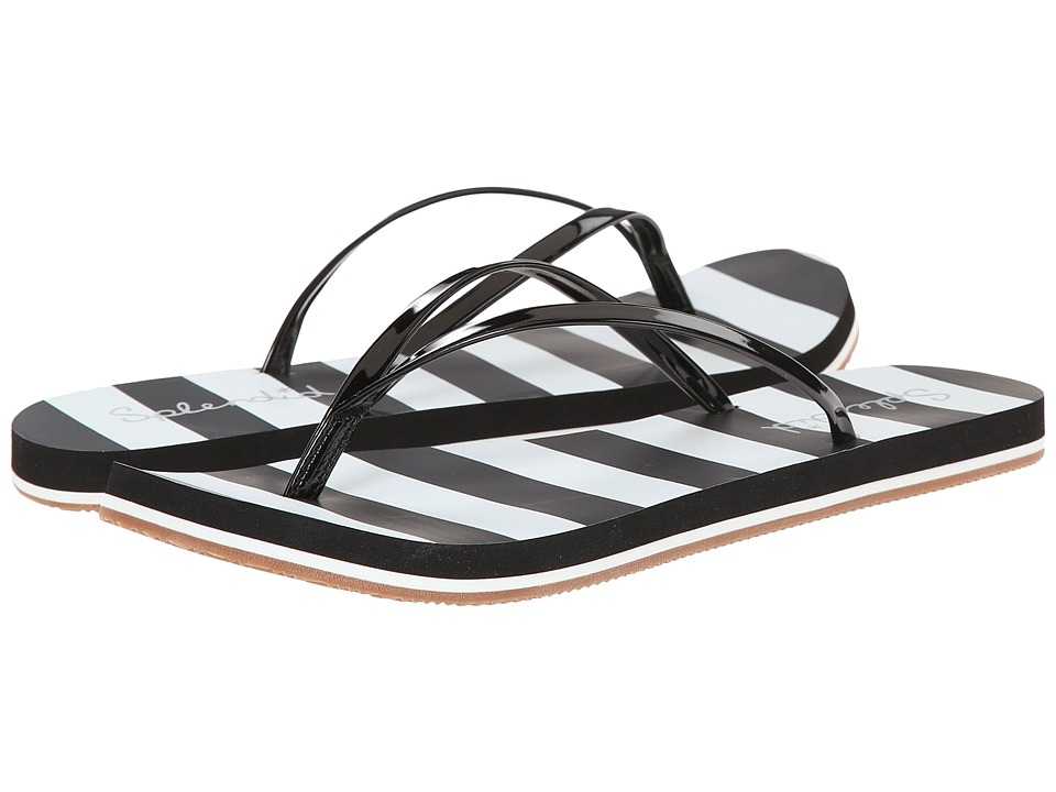 Splendid - Firefly (Black Patent/Stripe) Women's Sandals