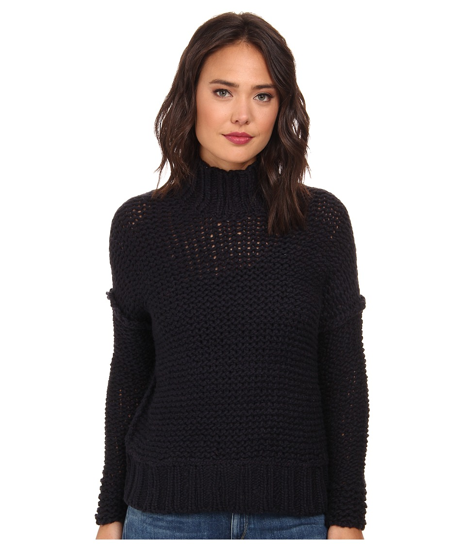 Free People - Long Summer Pullover (Deep Navy) Women's Sweater