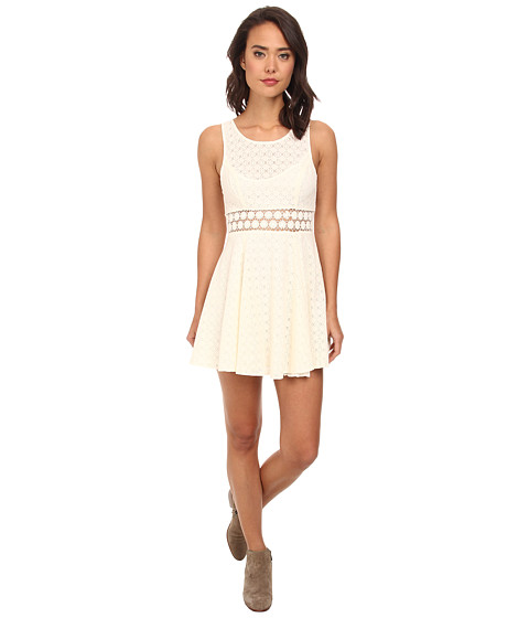 Free People - Daisy Waist Dress (Ivory 1) Women