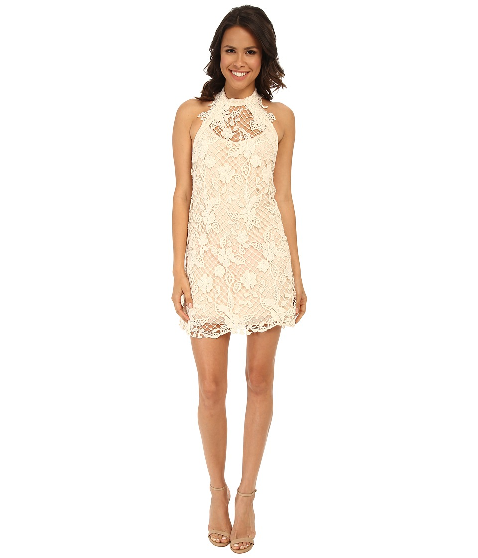 Free People - Snowdrop Lace Trapeze Dress (Softshell Combo) Women's Dress