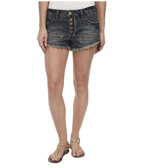 Free People - Runaway Cutoff Denim Shorts (Jillian Blue) Women's Shorts
