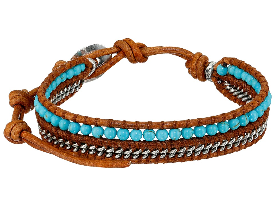 Chan Luu - 6 1/4' Turquoise/Natural Brown Single (Turquoise/Natural Brown) Bracelet