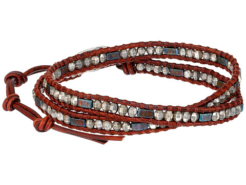 Chan Luu - 13' Red Mix/Natural Dark Red Wrap (Red Mix/Natural Dark Red) Bracelet