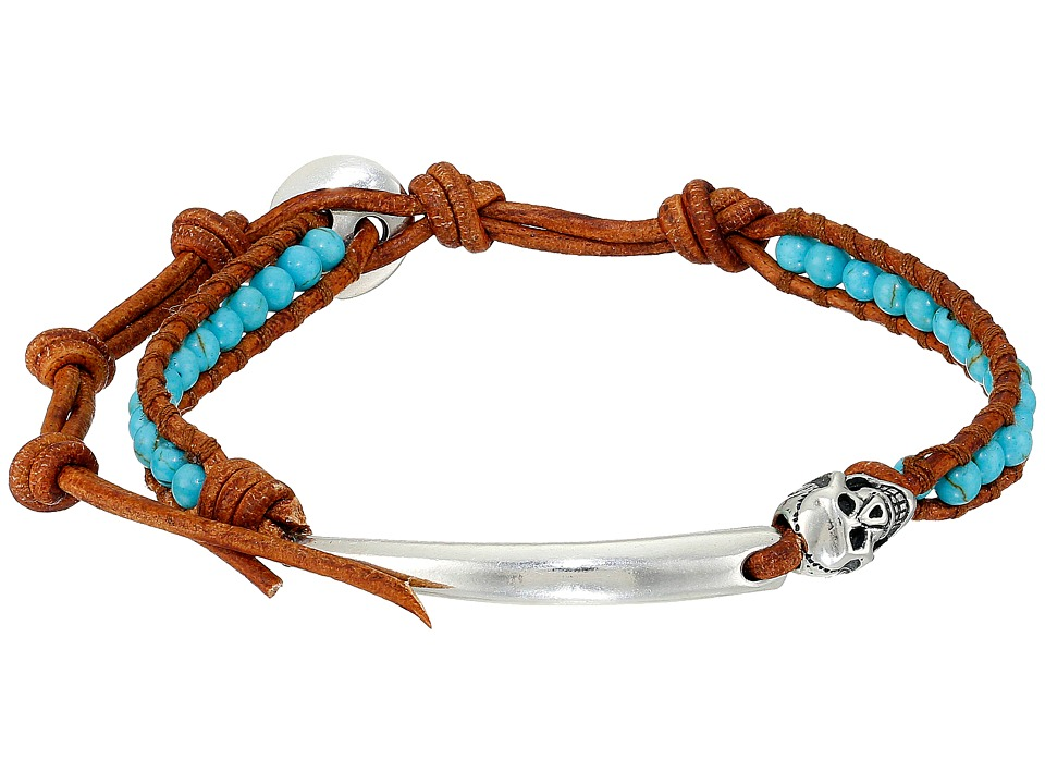Chan Luu - 6 1/4' Turquoise/Natural Brown Single with Chain (Turquoise/Natural Brown) Bracelet
