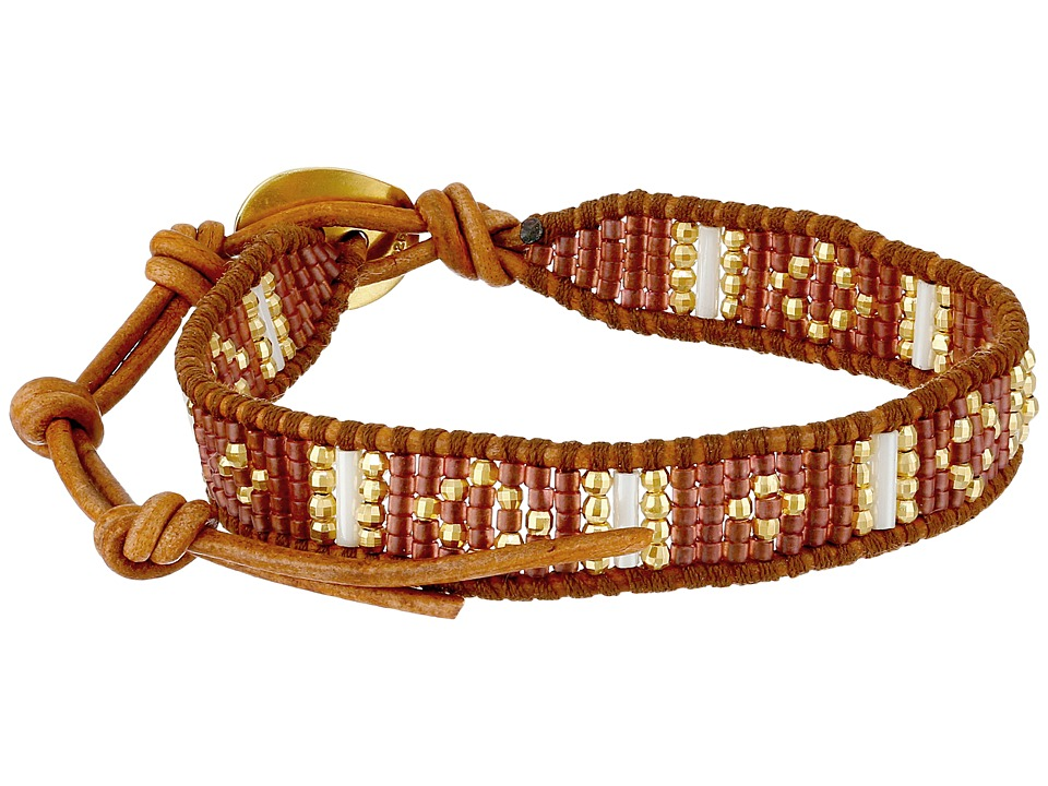Chan Luu - 6 1/4' Red Mix/Natural Brown Single (Red Mix/Natural Brown) Bracelet