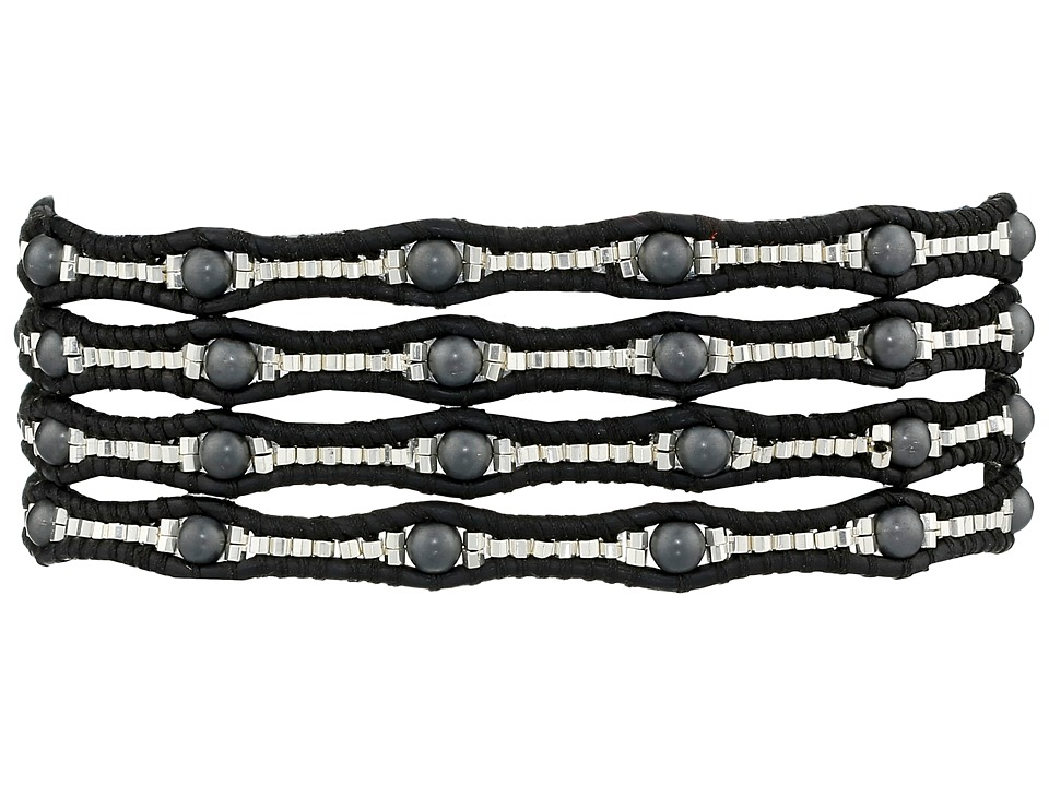 Chan Luu - 32' Matte Hematine/Natural Black Wrap (Matte Hematine/Natural Black) Bracelet
