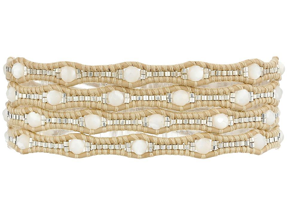 Chan Luu - 32' White/Petal Wrap (White/Petal) Bracelet