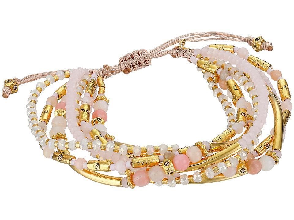 Chan Luu - 6 1/2' Adjustable Multi Strand Single (Peony Mix) Bracelet
