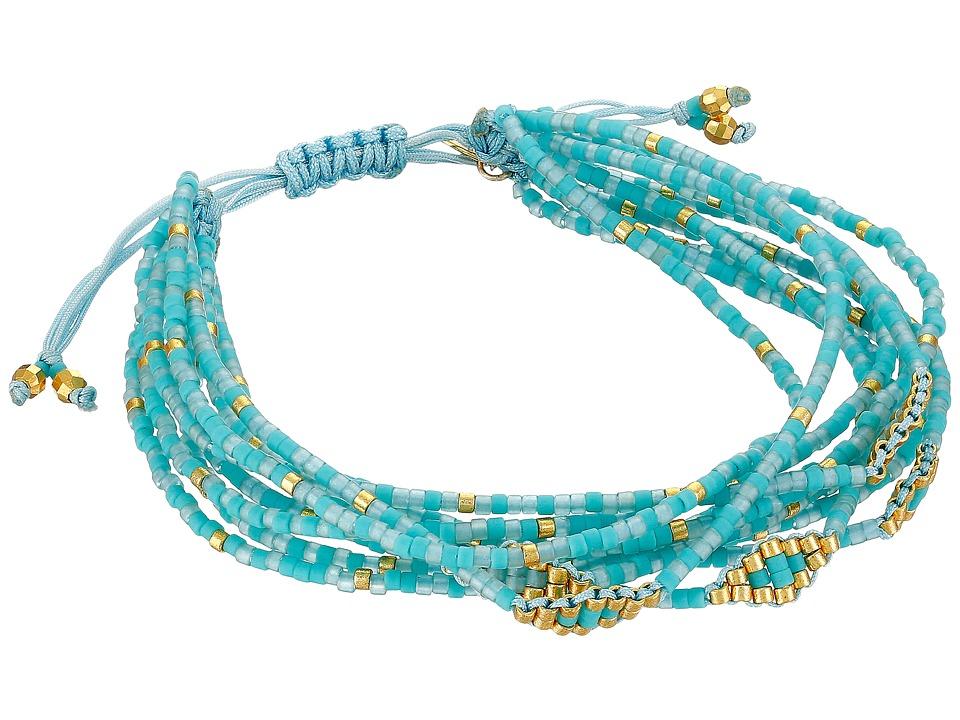 Chan Luu - 6 1/4' Adjustable Multi Strand Single (Turquoise Mix) Bracelet