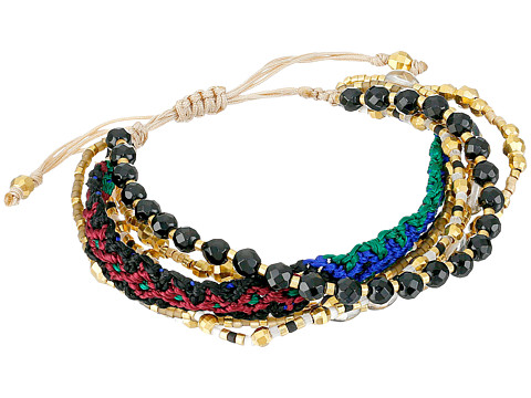 Chan Luu - 6 1/4' Adjustable Multi Strand Single (Onyx Mix) Bracelet