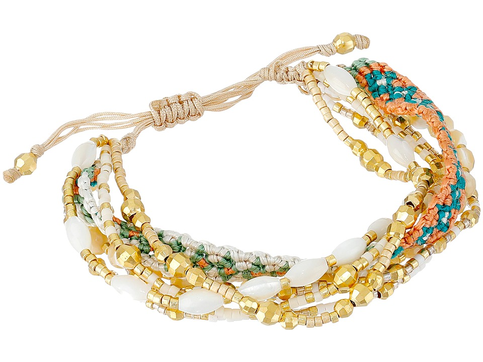 Chan Luu - 6 1/4' Adjustable Multi Strand Single (MOP Mix) Bracelet