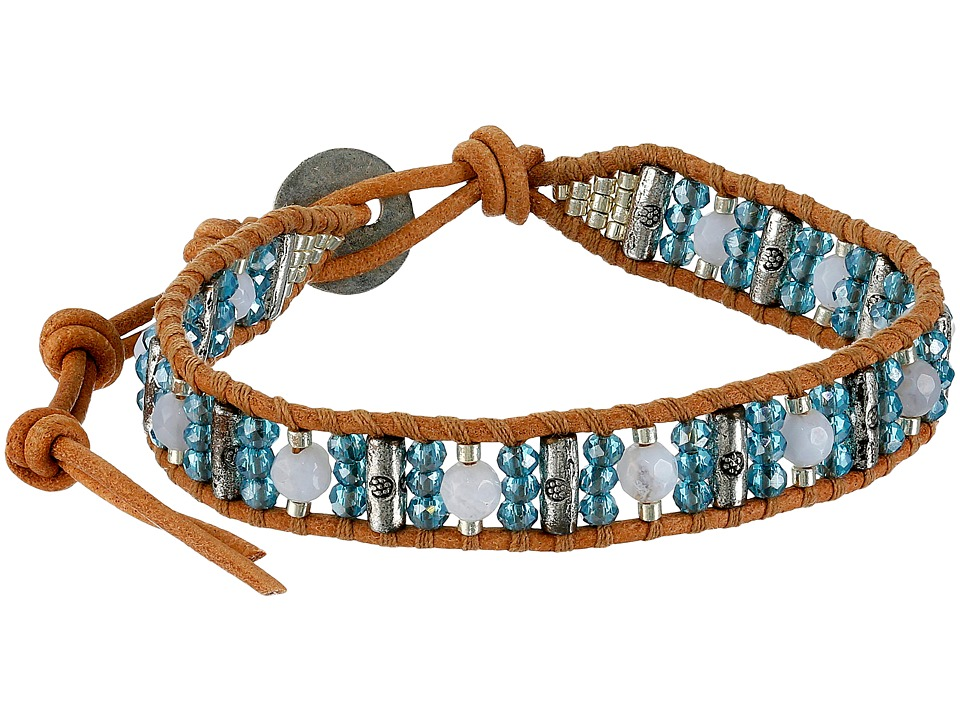 Chan Luu - 6' Blue Mix/Beige Single (Blue Mix/Beige) Bracelet