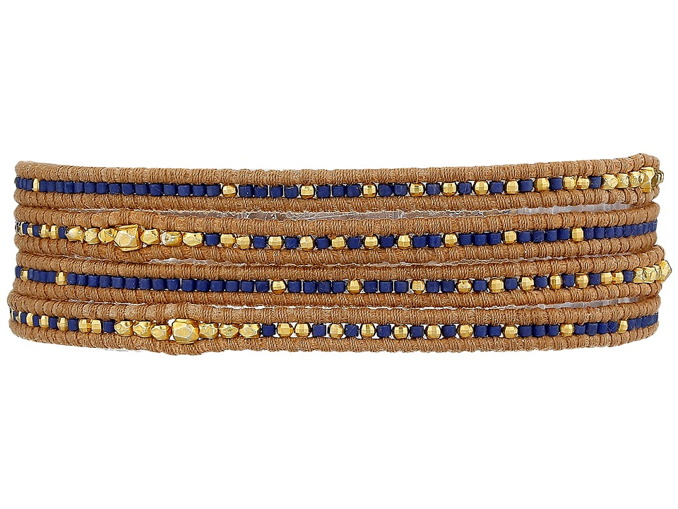 Chan Luu - 32' Blue Mix/Beige Wrap (Blue Mix/Beige) Bracelet