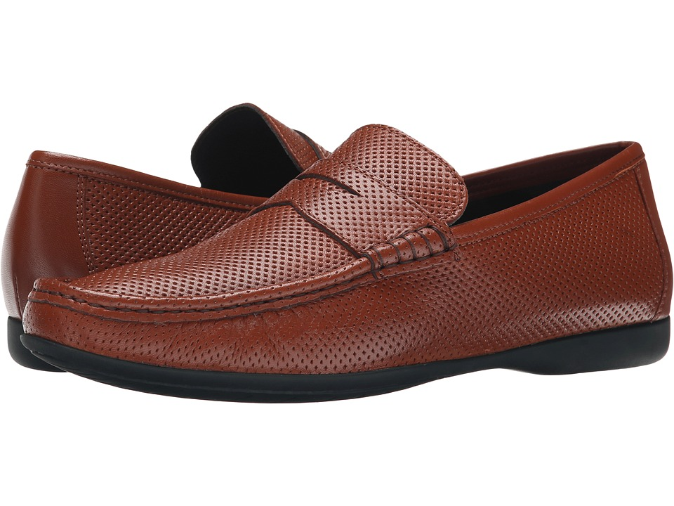Bruno Magli - Partie (Cognac Perforated Nappa) Men's Shoes