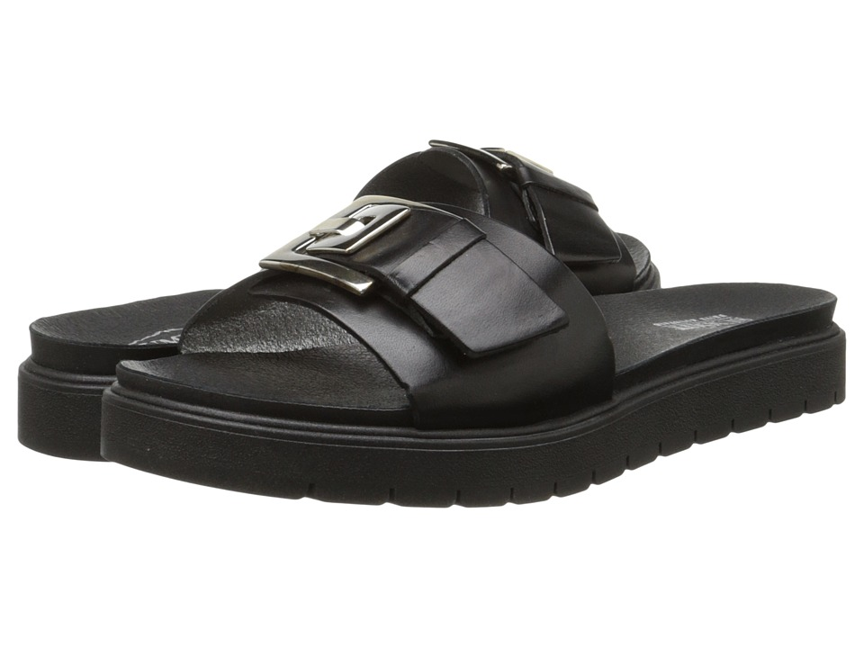 Summit White Mountain - Vivecca (Black Leather) Women's Sandals