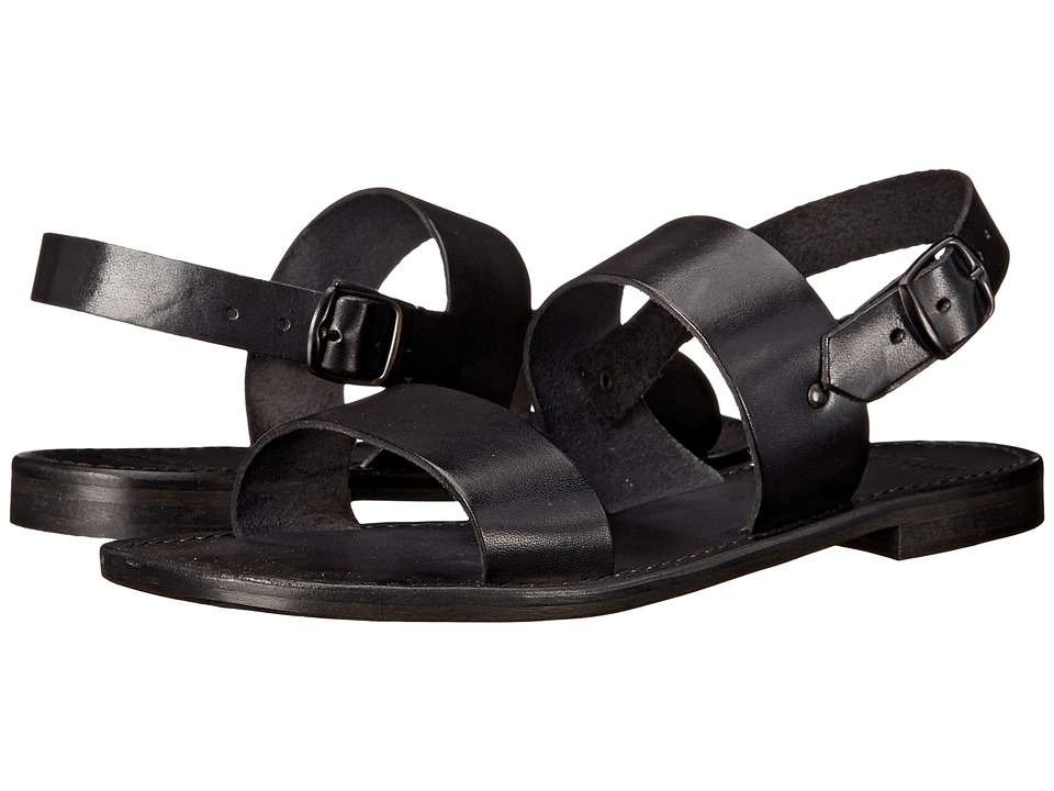 Summit White Mountain - Cassandra (Black Leather) Women's Sandals