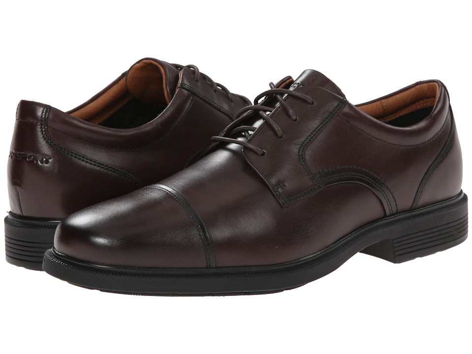 Rockport - Dressports Luxe Cap Toe Ox (Coach Brown) Men's Lace Up Cap Toe Shoes