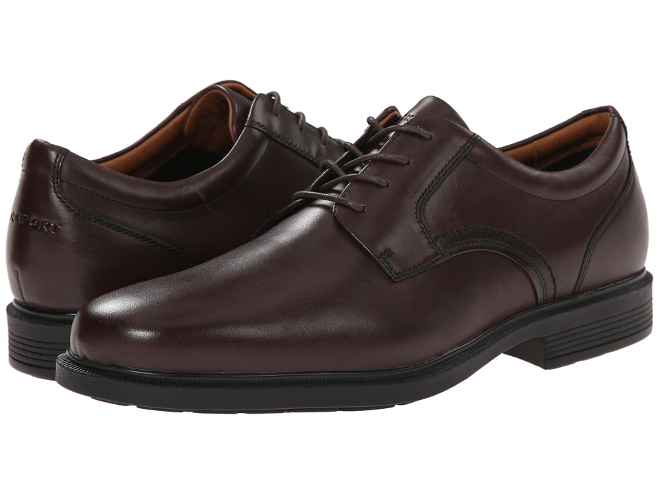 Rockport - Dressports Luxe Plain Toe Ox (Coach Brown) Men's Plain Toe Shoes