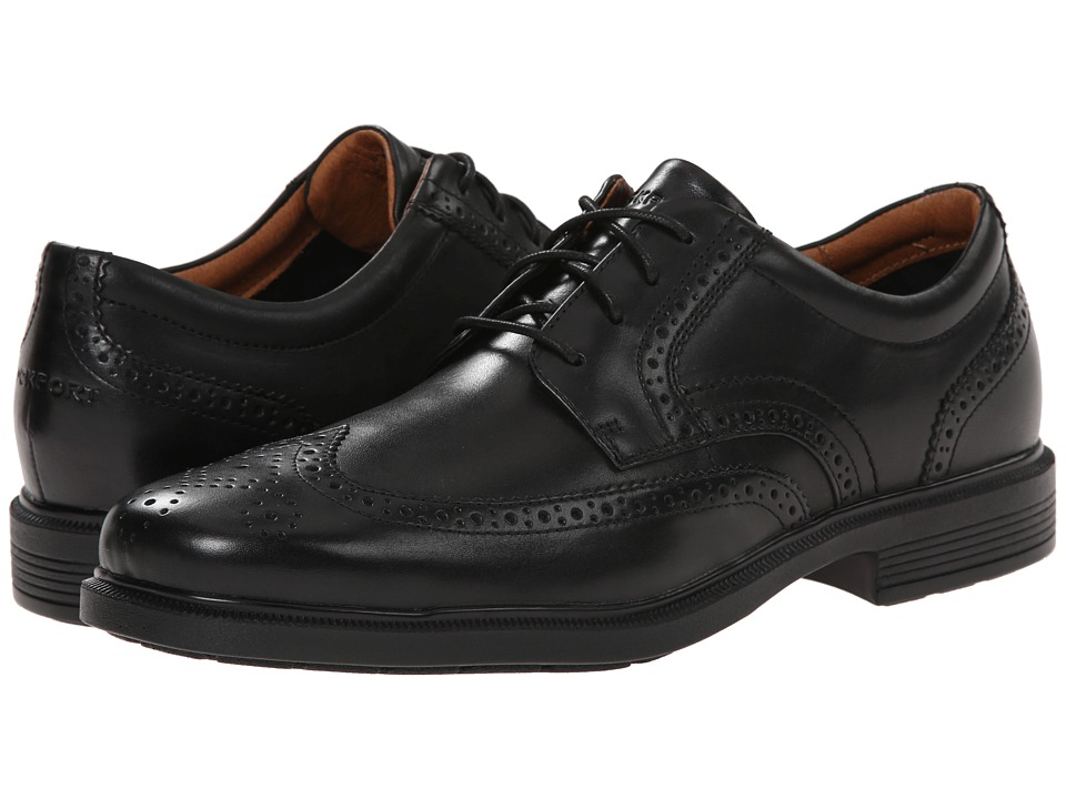 Rockport - Dressports Luxe Wing Tip Ox (Black) Men's Lace Up Wing Tip Shoes