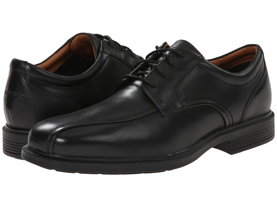 Rockport - Dressports Luxe Bike Toe Ox (Black) Men's Lace-up Bicycle Toe Shoes