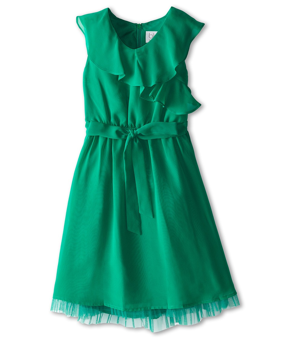 Us Angels - Sleevless Wrap Front w/ Full Skirt (Emerald) Girl's Dress