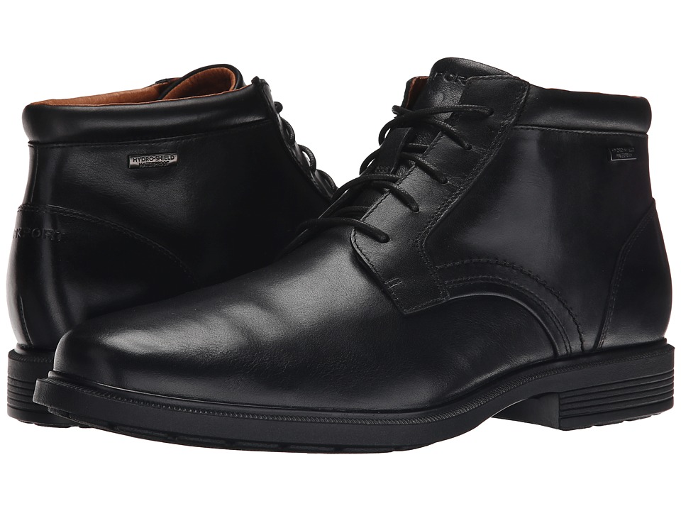 Rockport - Dressports Luxe Waterproof Chukka (Black) Men's Lace-up Boots