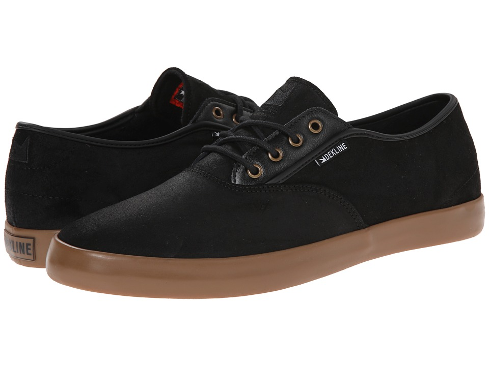 Dekline - Daily (Black Gum Wax Suede) Men's Skate Shoes