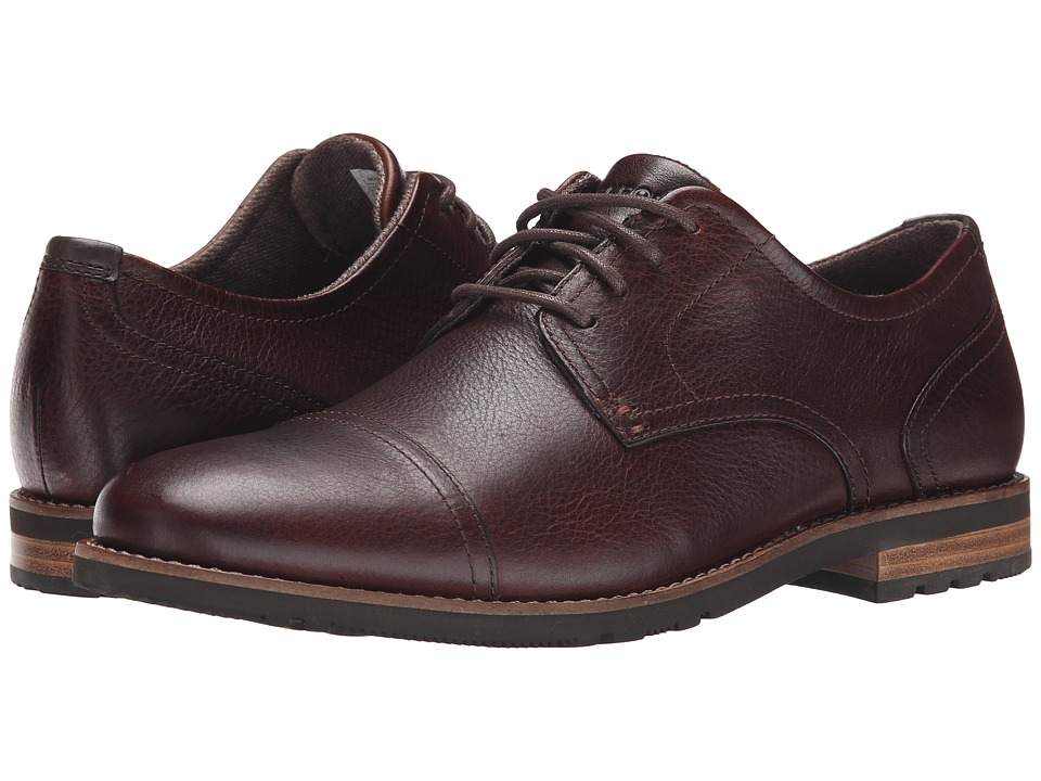 Rockport - Ledge Hill Too Cap Oxford (Dark Brown) Men's Lace Up Cap Toe Shoes