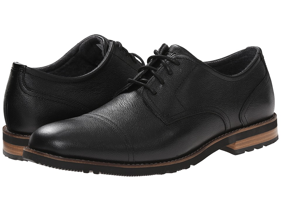 Rockport - Ledge Hill Too Cap Oxford (Black 1) Men's Lace Up Cap Toe Shoes