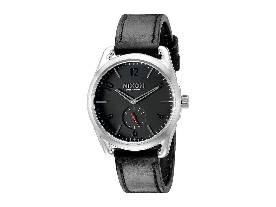 Nixon - C39 Leather (Black/Red) Watches